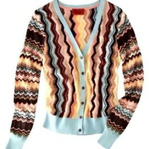 NWOT Missoni for Target chevron cardigan sweater L